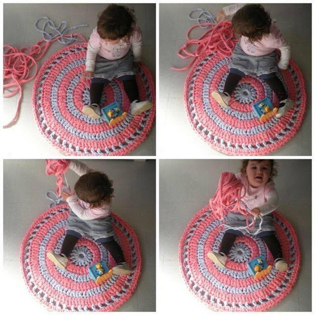 Вязанные коврики