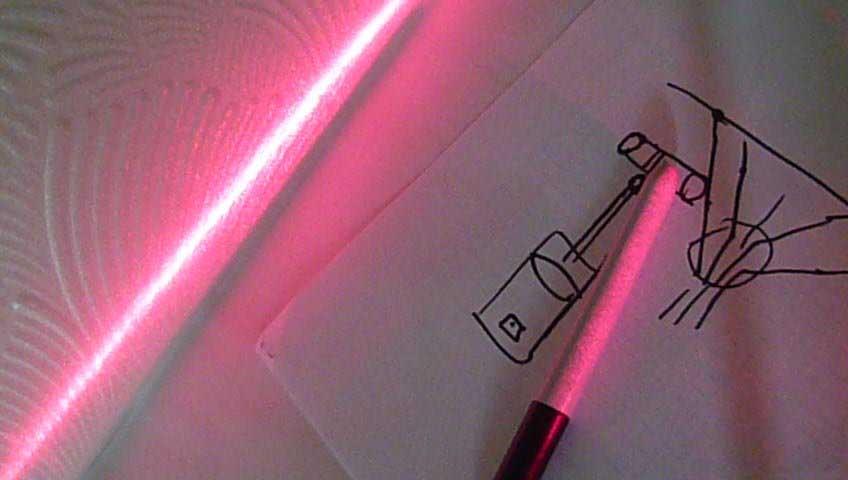 Лазерный стоп сигнал или уровень своими руками