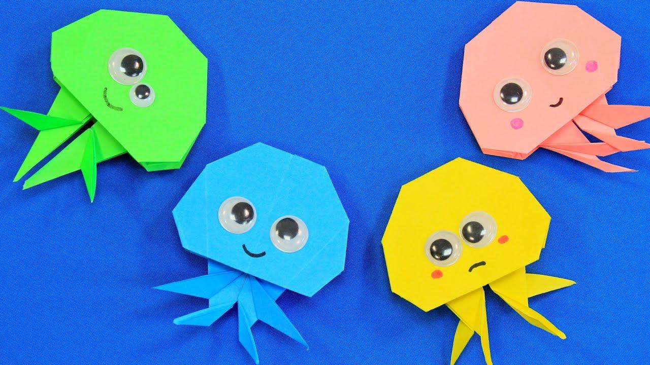 как сделать медузу из бумаги